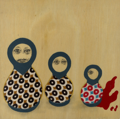 Blue Matryoshka NO2  